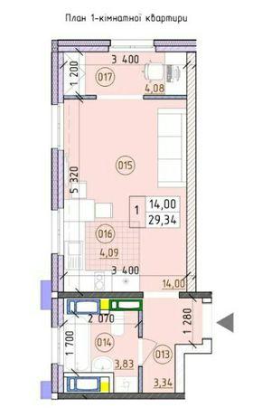 1к квартира, 30 м², ЖК Новая Англия, Лондон. Сдача дома 3 квартал 2022