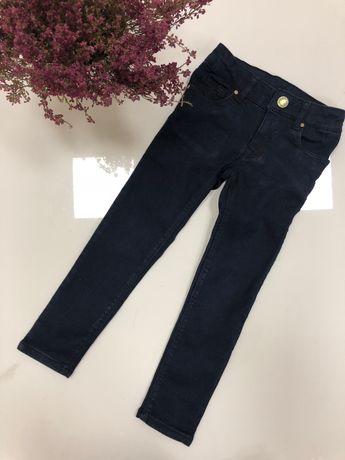 Zara jeansy super rurki stretch 104 cm 3/4 lata granat