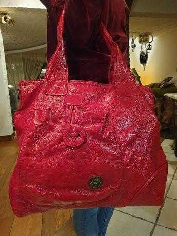 Skórzana torebka Versace
