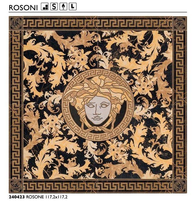 Dekor Versace Rossone 117.2x117.2 Nero Saint Lauren Poskwitów - image 1