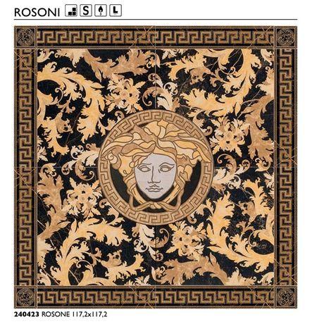 Dekor Versace Rossone 117.2x117.2 Nero Saint Lauren