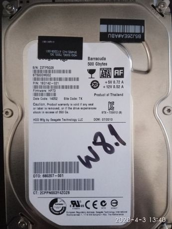 Disco HDD 500gb com Windows 8
