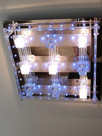 żyrandol z pilotem z różnym  rodzajem oświetlenia