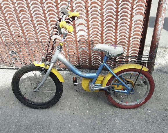 Rower dziecięcy rowerek żółto niebieski z gwiazdą