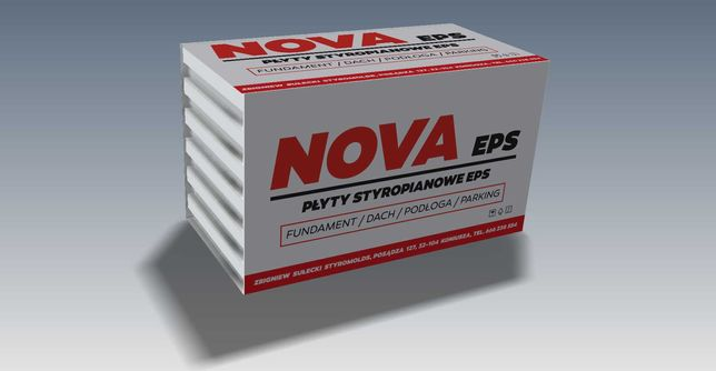 Styropian NOVA EPS 100 Fundament/Podłoga/Dach/Parking Lambda 0,036