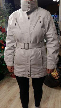 kurtka, krótki płaszczyk zimowy biały rozm. 38 m