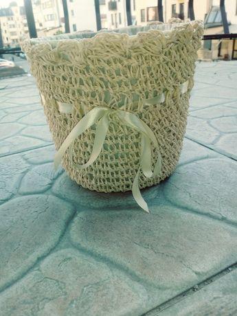 Doniczka na kwiaty typu slomkowego ir