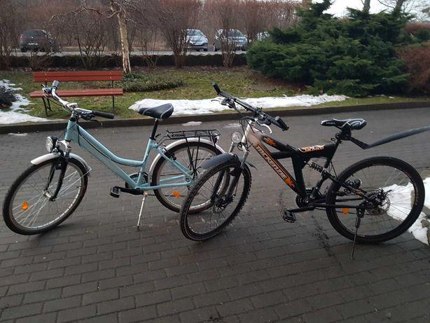 Rowery 26 cali 450 zl dla chłopaka i dziewczyny
