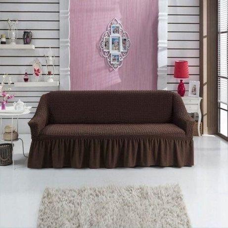 Натяжной чехол, накидка на диван Hommy Turkey разные цвета