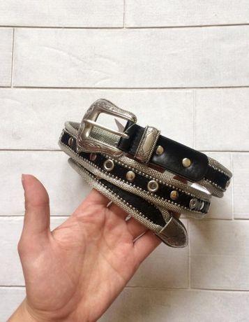 Крутой трендовый ремень pull&bear, металлический, ремінь, пояс
