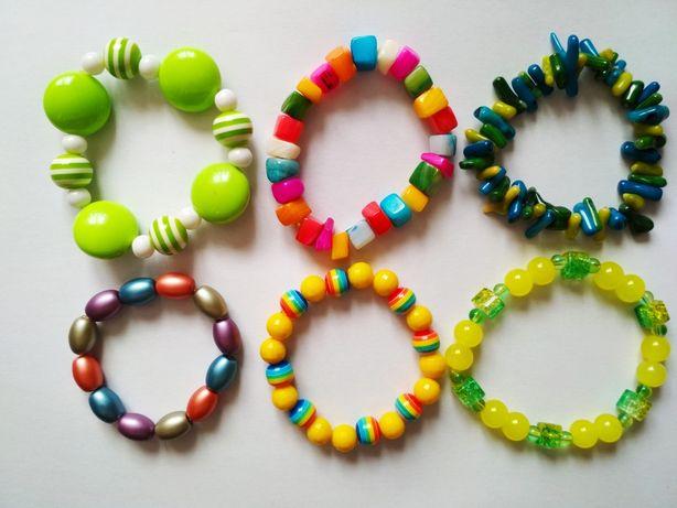 Super kolorowe bransoletki hand made dla dziewczynki