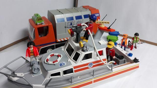 Playmobil śmieciarka i ratownicy wodni