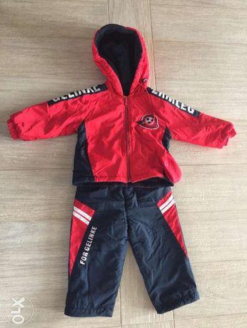 детский теплый костюм-верхняя одежда Gelinke(Китай):куртка+штаны, 80см