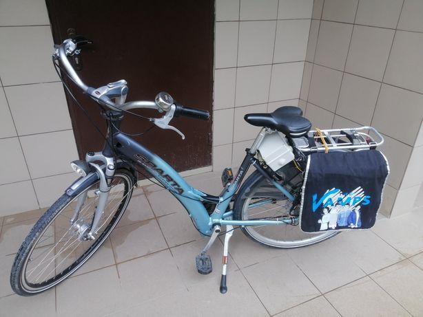 Електровелосипед, Li-ion бат. 10Аг, дост.Безкошт.7перед. 40 км. Алюмін
