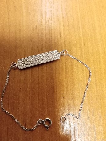 Stara bransoletka srebrna