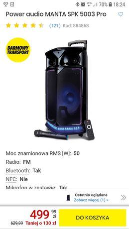 Głośnik Manta SPK5003 PRO