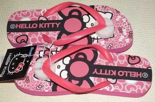 Klapki japonki na basen lato plażę r.32 nowe Hello Kitty na licencji