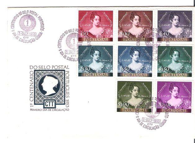 Envelope com selos 1º dia  1953
