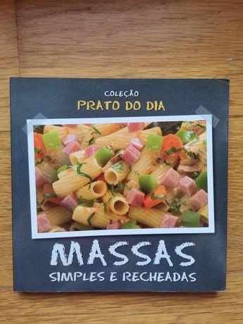 Livro de culinária, receitas de massa