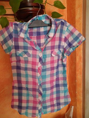 Koszula rozpinana 164  bawełna na lato