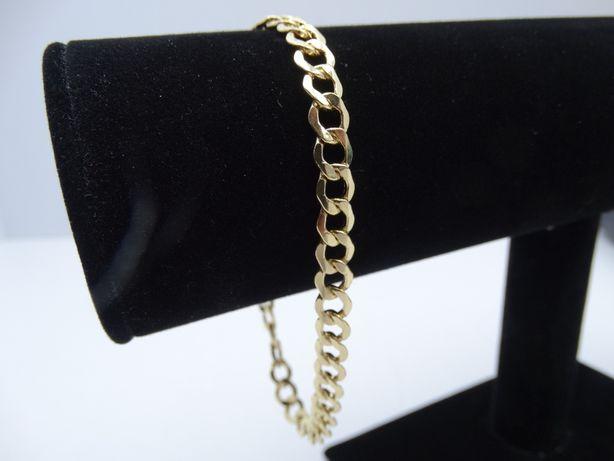 Złota bransoletka pancerka P585 6,43g 23,5cm LOM95