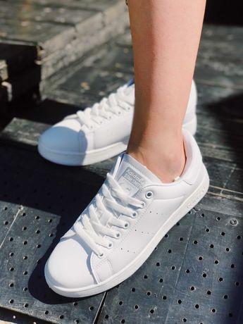 Кеди Стан Сміт чисто білі Adidas Stan Smith All White Top!