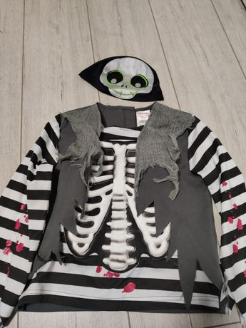 Костюм карнавальный, хелуин скелет 10-11 лет
