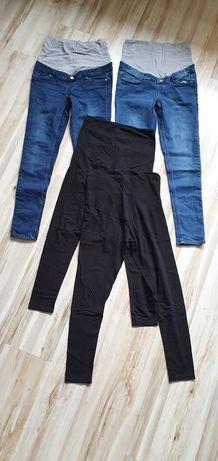 Spodnie getry ciążowe r. 38  zestaw
