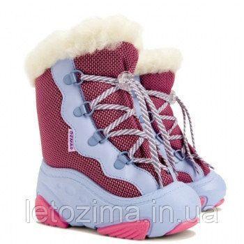 Зимние ботинки на овчине на девочку demar