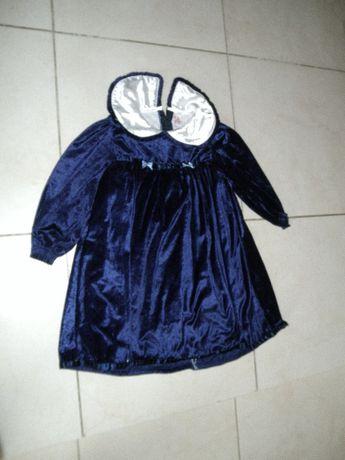 świąteczna sukienka granatowa, roz.98