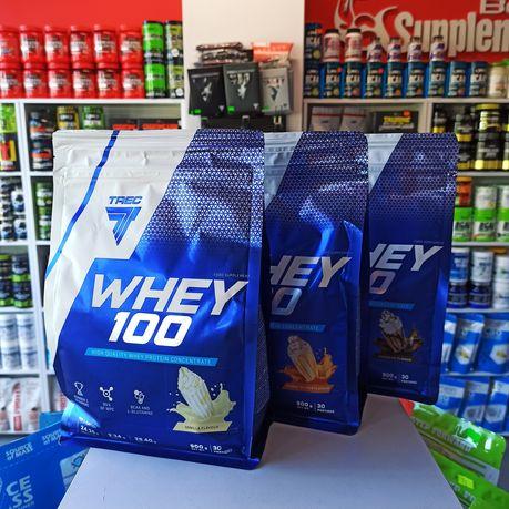 Zestaw Trec Whey100, 2700g białka Odżywka Białkowa, Białko WPC Odżywki