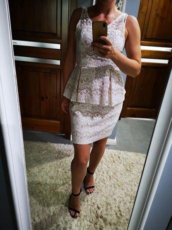 Sukienka z baskinką Eva Minge rozm. 38