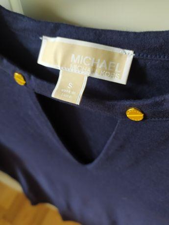 Oryginalna bluzka T-shirt Michael Kors S granatowa / jak nowa!