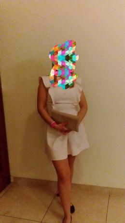 Sukienka pudrowy róż rozmiar M