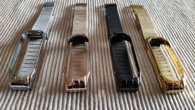 Braceletes Metálicas Xiaomi MiBand 3 e 4