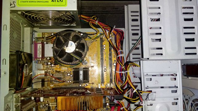 ПК, напольный системник, системный блок 2 ядра 3ГБ DDR-2 чёрный.