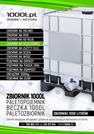 ZBIORNIK MAUZER 1000l 1000 litrów ibc na deszczówkę CAŁA POLSKA!