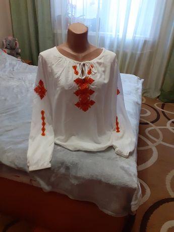 Вишита сорочка бісером 44-46 розмір нова вишитая рубашка бисером