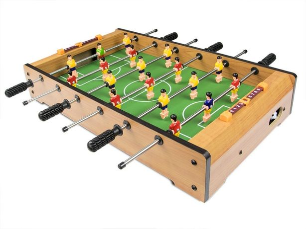PIŁKARZYKI STÓŁ do gry (drewniany) + 2 piłeczki, przenośna gra. NOWA