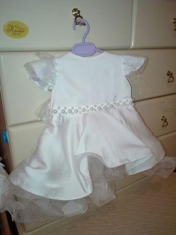 Нарядное белоснежное платье на годик, на новый год
