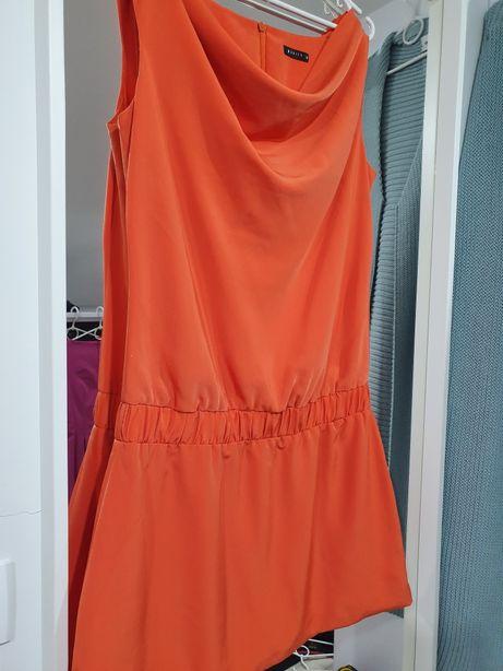 Sukienka pomarańczowa idealna MOHITO 38 M