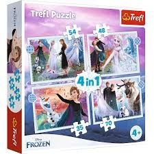 Puzzle 4w1 trefl kraina lodu