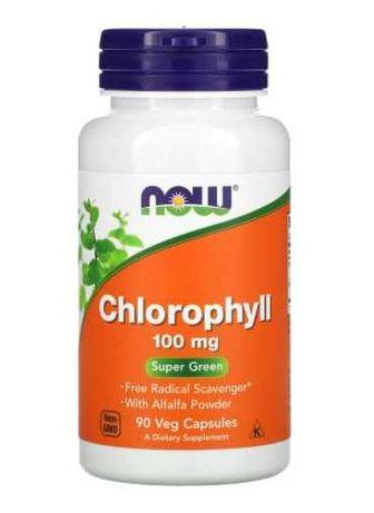 Хлорофилл 100мг 90 растительных капсул Now Foods