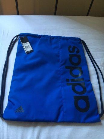 Nowy worek na buty na w-f Adidas niebieski!!