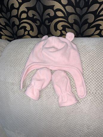 Набор шапка и рукавички HM