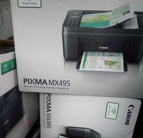 Bezprzewodowa Canon PIXMA mx495 drukarka , skaner - Wi-Fi NOWE