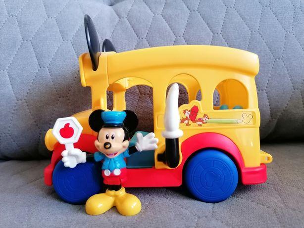 Fisher Price autobus szkolny Miki Myszka Mickey Mouse + figurka.