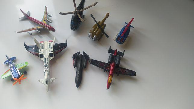 Zestaw:samoloty , helikoptery małe rysoraki
