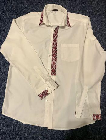 Рубашка с орнаментом вышиванки на мальчика 13-14 лет