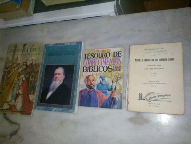 Conjunto de 4 Livros Antigos Religiosos